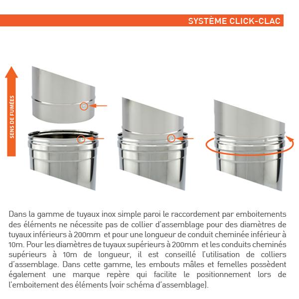 Réducteur tubage cheminée diamètre 100-90