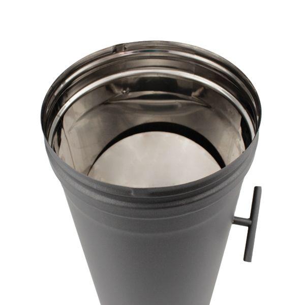 Tuyau de poêle régulateur de tirage en Inox Noir diamètre 140