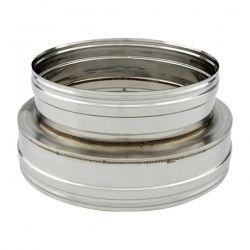 Adaptateur conduit double à simple paroi diamètre 130-180