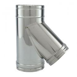 Tubage cheminée - Té 45° simple paroi PRO Ø100-150
