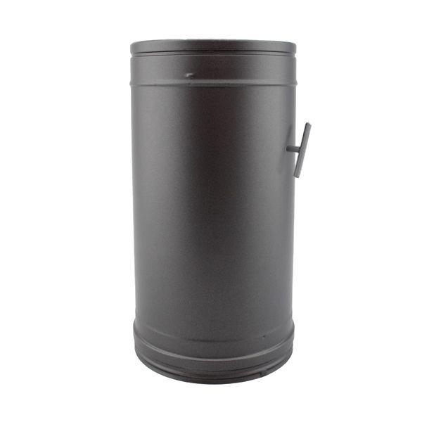 tuyau 33cm r gulateur tirage double paroi noir anthracite 100 150 trachemin e. Black Bedroom Furniture Sets. Home Design Ideas