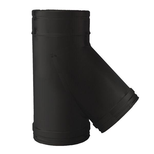 Té 45° double paroi Noir/Anthracite Ø180-230