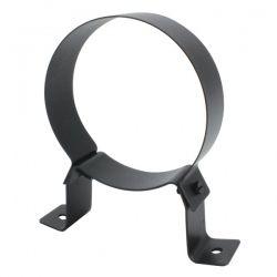 Collier support fixe noir/antharacite Ø130 - Conduit cheminée