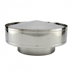 Chapeau anti-pluie conduit double paroi diamètre 80-130