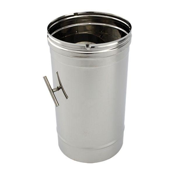 Fumisterie tuyau 50cm r gulateur tirage 120 - Tuyau pour insert cheminee ...