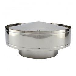 Chapeau anti-pluie conduit double paroi diamètre 100-150