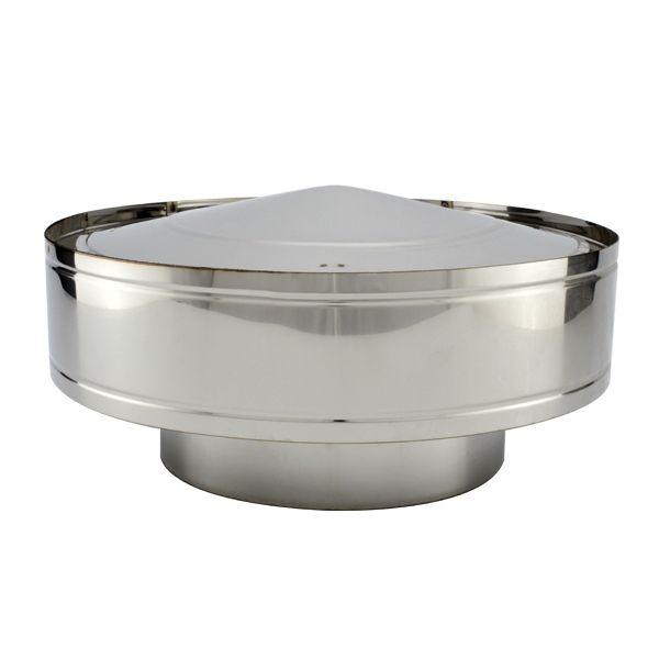 chapeau anti pluie conduit double paroi pro 125 175 trachemin e. Black Bedroom Furniture Sets. Home Design Ideas
