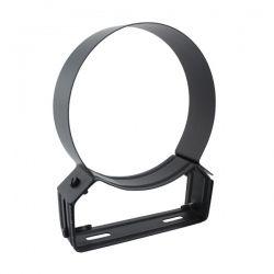 Collier support réglable 4/8 cm Noir / Anthracite Ø100