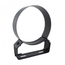 Collier support réglable 4/8 cm Noir / Anthracite Ø160