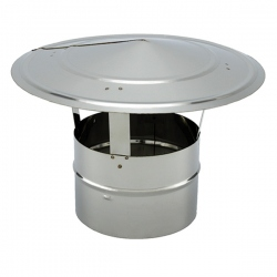 Chapeau chinois cheminée simple paroi diamètre 125