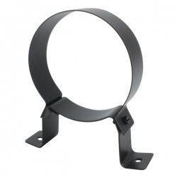 Collier support fixe noir/antharacite Ø140 - Conduit cheminée