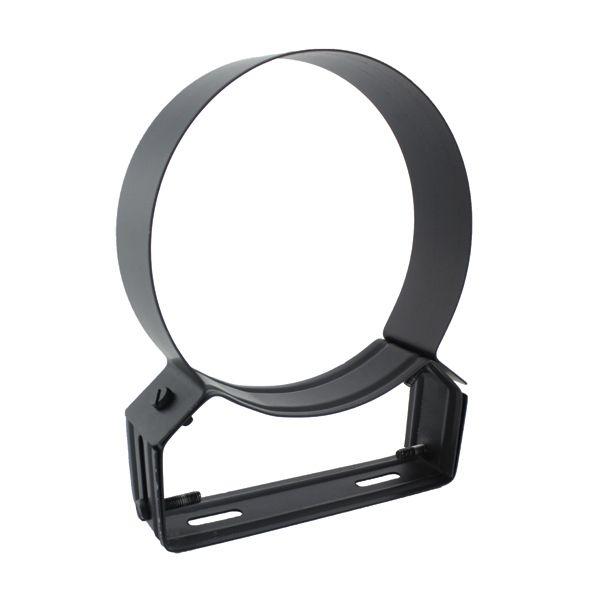 Collier support noir/anthracite réglable 4/8 cm Ø110