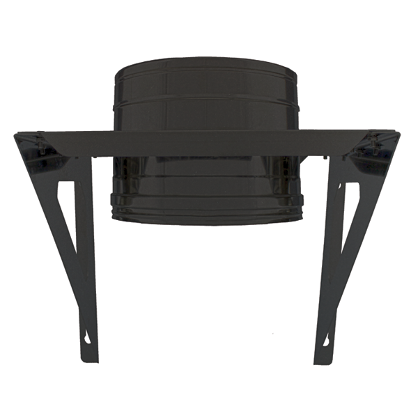 Support charge murale Inox double paroi Noir / Anthracite PRO Ø80-130
