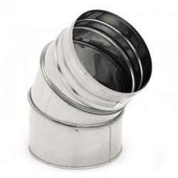 Coude 45° inox cheminée et poele diamètre 150