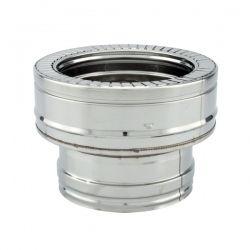 Adaptateur conduit simple à double paroi diamètre 100-150