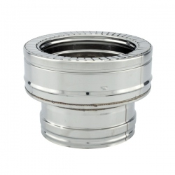 Adaptateur conduit simple à double paroi diamètre 125-175