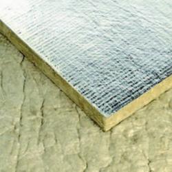 Panneau laine de roche revêtement ALU 30 mm