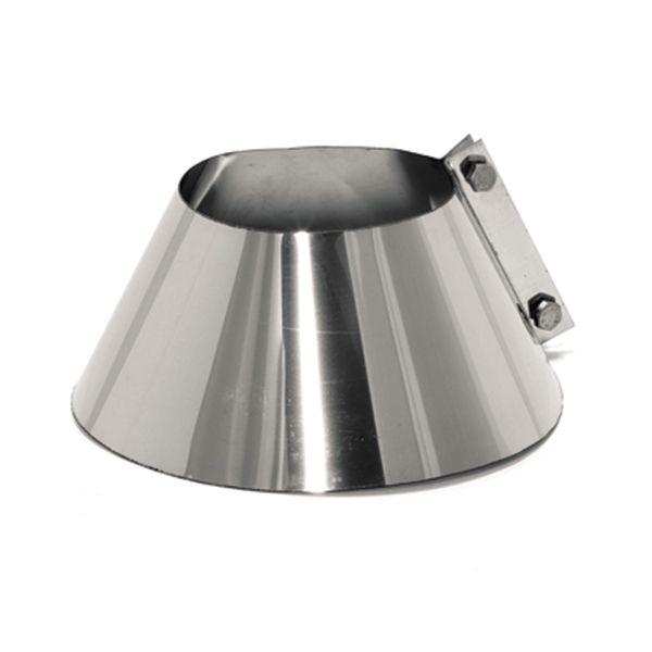 Kit d'abergement toiture plat - Solin d'étanchéité en inox diamètre 130 - TraCheminée