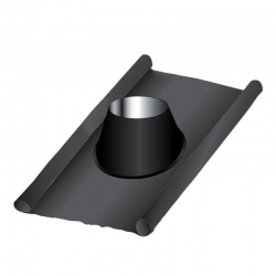 Solin d'étancheité plomb-inox PRO Noir / Anthracite Ø90