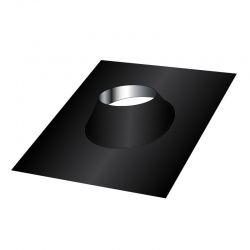 Conduit cheminée - Solin d'étanchéité toit plat en Inox Noir / Anthracite 125