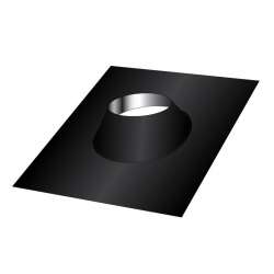 Conduit cheminée - Solin d'étanchéité toit plat en Inox Noir / Anthracite 130