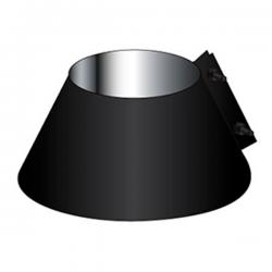 Collerette de solin d'étanchéité cheminée inox Noir / Anthracite 90