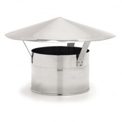 Chapeau cheminée poêle diamètre 125