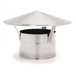Chapeau chinois conduit cheminée simple paroi ECO Ø125