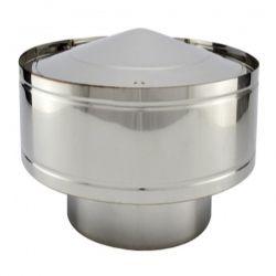 Chapeau anti-pluie tubage simple paroi diamètre 125