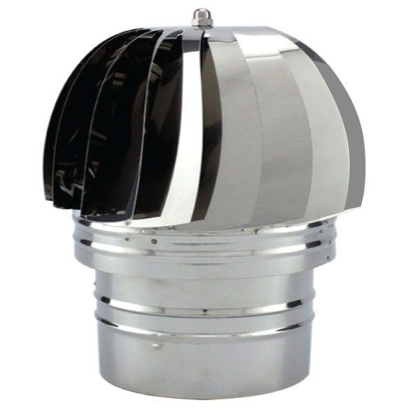 Chapeau extracteur fumée éolien pour conduit de cheminée diamètre 270