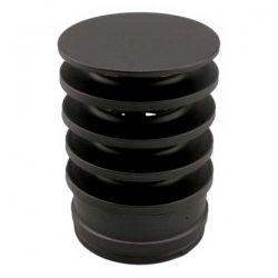 Chapeau anti-refoulement tubage double paroi Noir diamètre 80