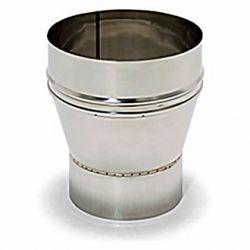 Réducteur cheminée inox-304 125x80