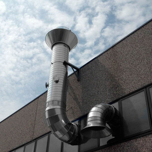 Chapeau cheminée pour Intallation industrielle et l'industrie. diamètre 180