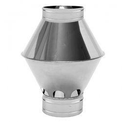 Chapeau cheminée Inox Venturi diamètre 200