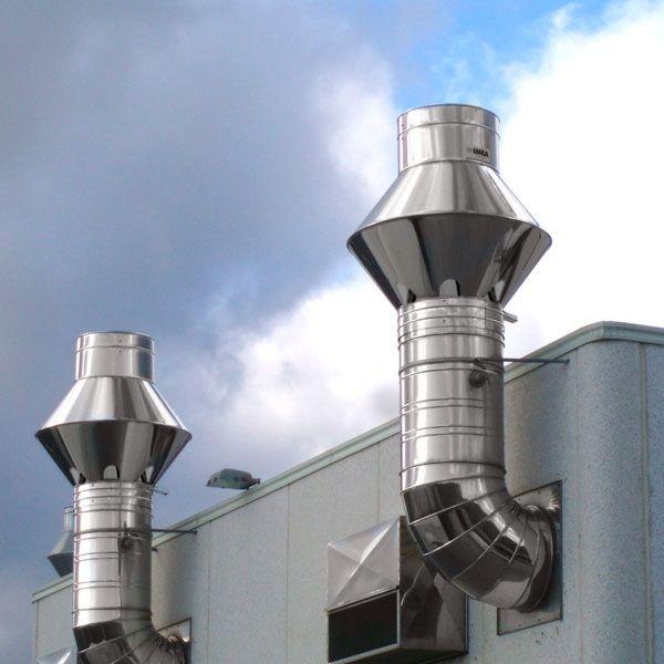 Chapeau cheminée pour Intallation industrielle et l'industrie. diamètre 225