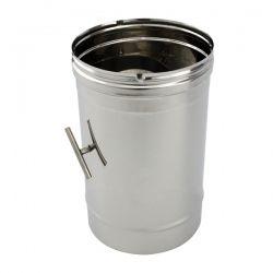 Tuyau de cheminée inox à régulateur tirage diamètre 125