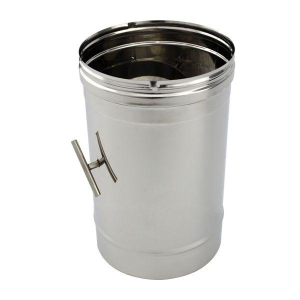 Tuyau de cheminée inox à régulateur tirage diamètre 250