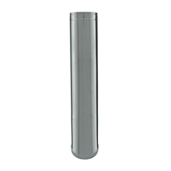 Conduit chemin e tuyau 1m double paroi isol 150 200 - Conduit cheminee inox exterieur ...