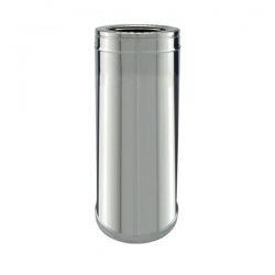 Conduit cheminée - Tuyau 50cm double paroi isolé Ø100-150