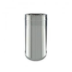 Conduit cheminée - Tuyau 33cm double paroi isolé Ø150-200