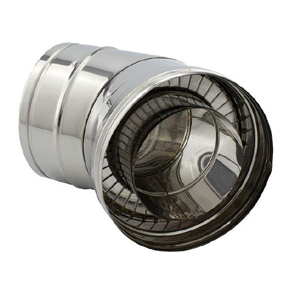 Coude à 45° double paroi isolé diamètre 100-150