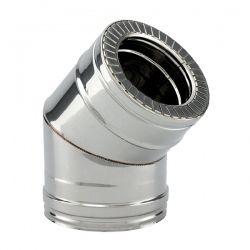 Coude à 45° double paroi isolé diamètre 250-300