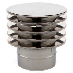Chapeau anti-refoulement conduit simple paroi diamètre 90