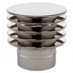 Chapeau anti-refoulement conduit simple paroi diamètre 100