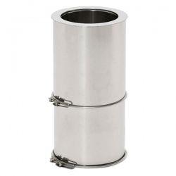 Tubage cheminée - Tuyau ajustable 25 a 40 CM double paroi