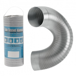 Gaine aluminium compacte extensible pour VMC 1M Ø90