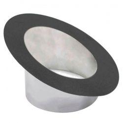 Rosace à collerette incliné Noir/Anthracite Ø80