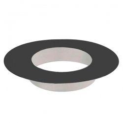 Rosace finition tubage cheminée Noir/Anthracite 125
