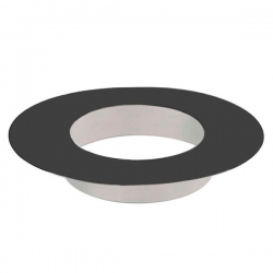 Rosace finition tubage cheminée Noir/Anthracite 100