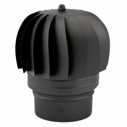 Chapeau extracteur cheminée rotatif éolien Noir-Anthracite diamètre 175